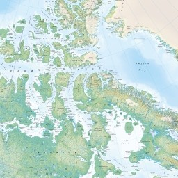 Regional Relief Map - Canada & Northern US