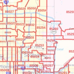 Map Of Scottsdale Arizona Zip Codes.Scottsdale Zip Code Map Arizona