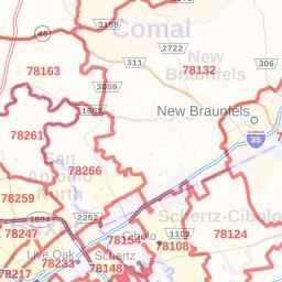 Bulverde ZIP Code Map, Texas