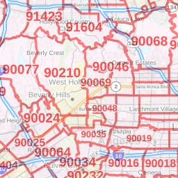 Inglewood ZIP Code Map, California