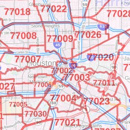 Map 77002.Bellaire Zip Code Map Texas