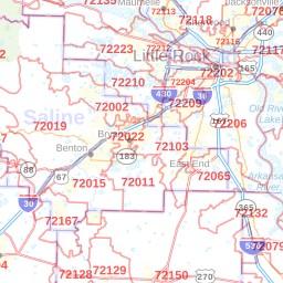 Little Rock ZIP Code Map, Arkansas